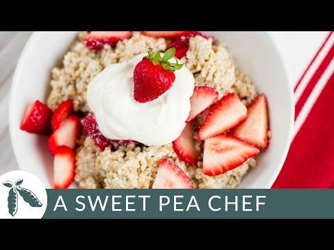 Strawberries And Cream Steel Cut Oats | A Sweet Pea Chef