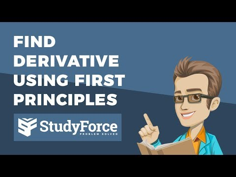 📚 How to find the derivative using first principles