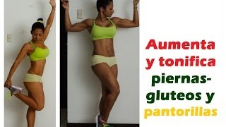 Entrenam.172 Aumenta y tonifica piernas-gluteos-pantorillas, Increases and tones legs,Fitness