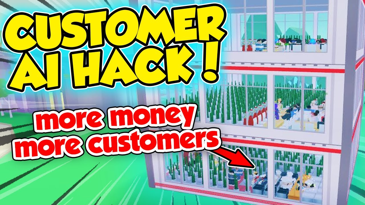 MORE CUSTOMERS and MONEY AI HACK - STEP BY STEP DESIGN - Roblox My Restaurant
