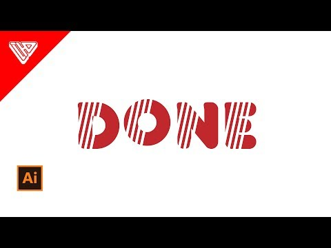 Add Line in Font | Illustrator Tutorial
