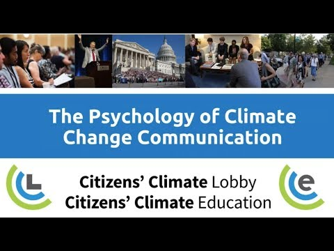 Citizens' Climate University: The Psychology of Climate Change Communication