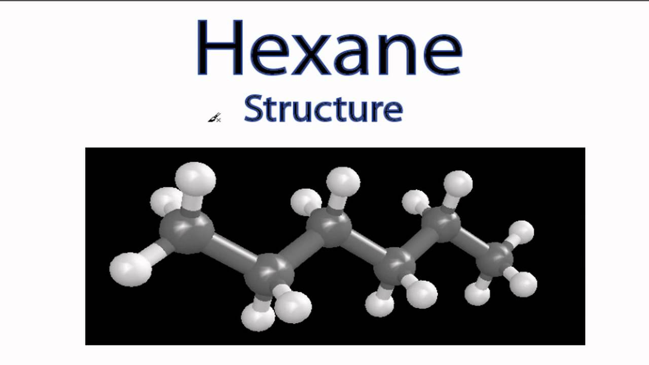 hexane structure c6h14 youtube