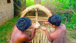 Build Rabbit House Using Bamboo