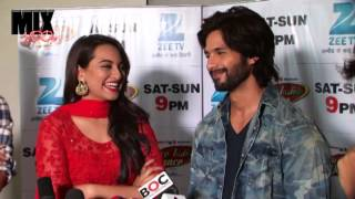 Shahid, Prabhu Dheva & Sonakshi On Set Of Dance India Dance