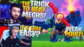 Everyone MISSED This EASY Way To COUNTER Mechs! ft. Tfue & Cloakzy (Fortnite Battle Royale)