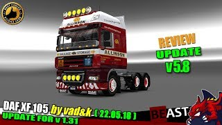 "[""ETS2"", ""Euro Truck Simulator 2"", ""truck mod"", ""DAF XF 105 by vad&k (1.31) 22.05.18""]"