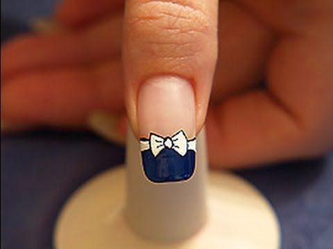 Bow Tie With Nail Lacquer As French Motif Youtube