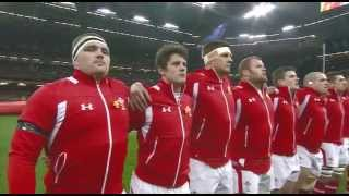 Welsh National Anthem just before Wales beat England 30 - 3.Saturday 16th march 2013