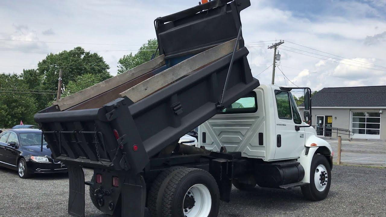 Lewis Motor Company 2003 International 4300 Single Axle Dump Truck Dt466 Diesel For Sale On Ebay Youtube