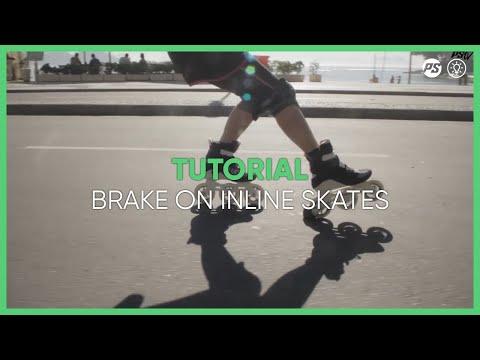 Inline skating tutorials with three wheel skates -  how to learn triskating - 02 braking