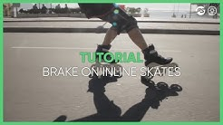 Inline skating tutorials with three wheel skates -  how to learn triskating - 02 braking