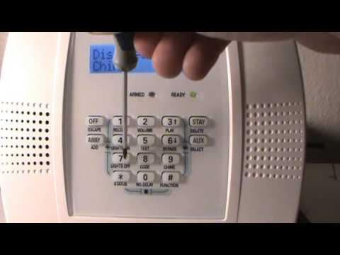 Ademco home alarm system code programming.