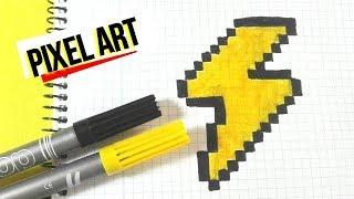 Como dibujar un RAYO- PIXEL ART
