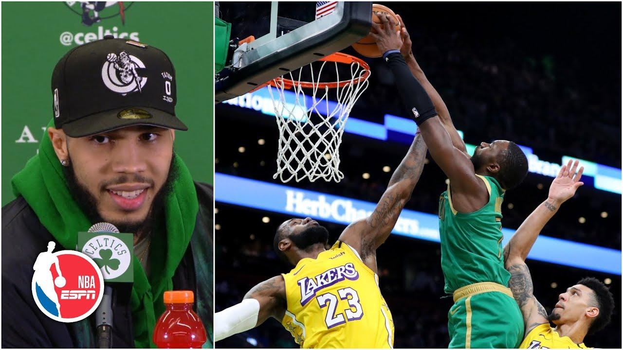 Jayson Tatum thinks his dunk on LeBron