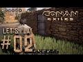 Conan Exiles ALPHA Let's Play #02 - Building a house