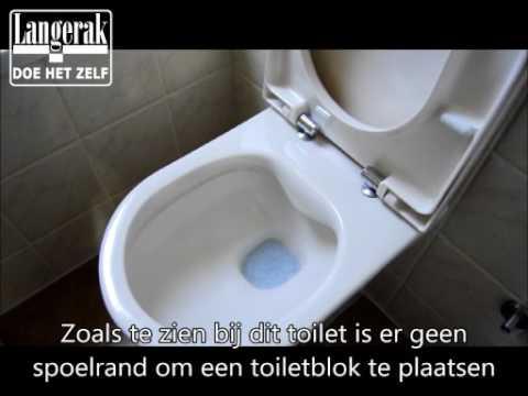 Rimless toilet doorspoelen met toiletblokhouder Geberit