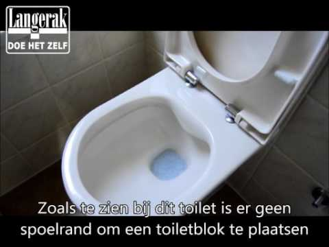 Rimless toilet doorspoelen met toiletblokhouder geberit youtube