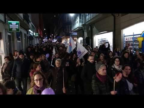 Manifestación en Ferrol - 8M2018 - Folga Internacional de Mulleres - Día da loita Feminista