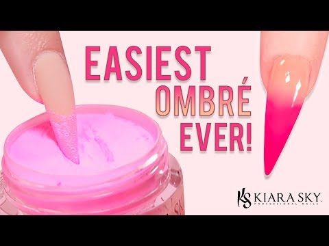 😍 Ombre Nail Tutorial For Beginners 💅🏼 L  Easiest Baby Boomer Using Dip Powder 🎉