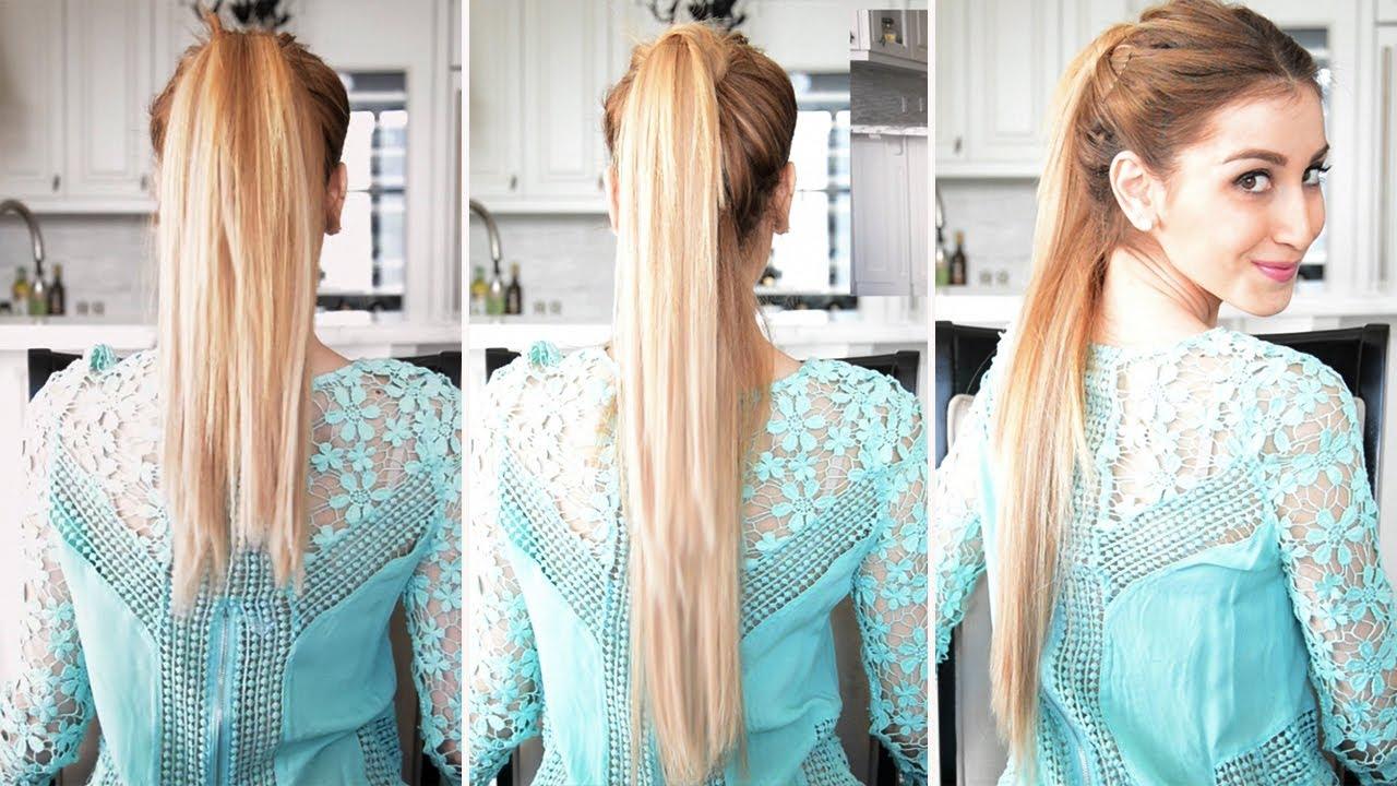 fake longer ponytail