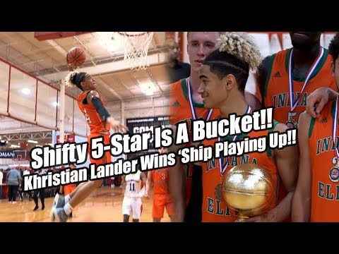 Number #1 PG In 2021 Class Khristian Lander Is A Bucket!! Leads Indiana Elite To 'Ship Playing Up!