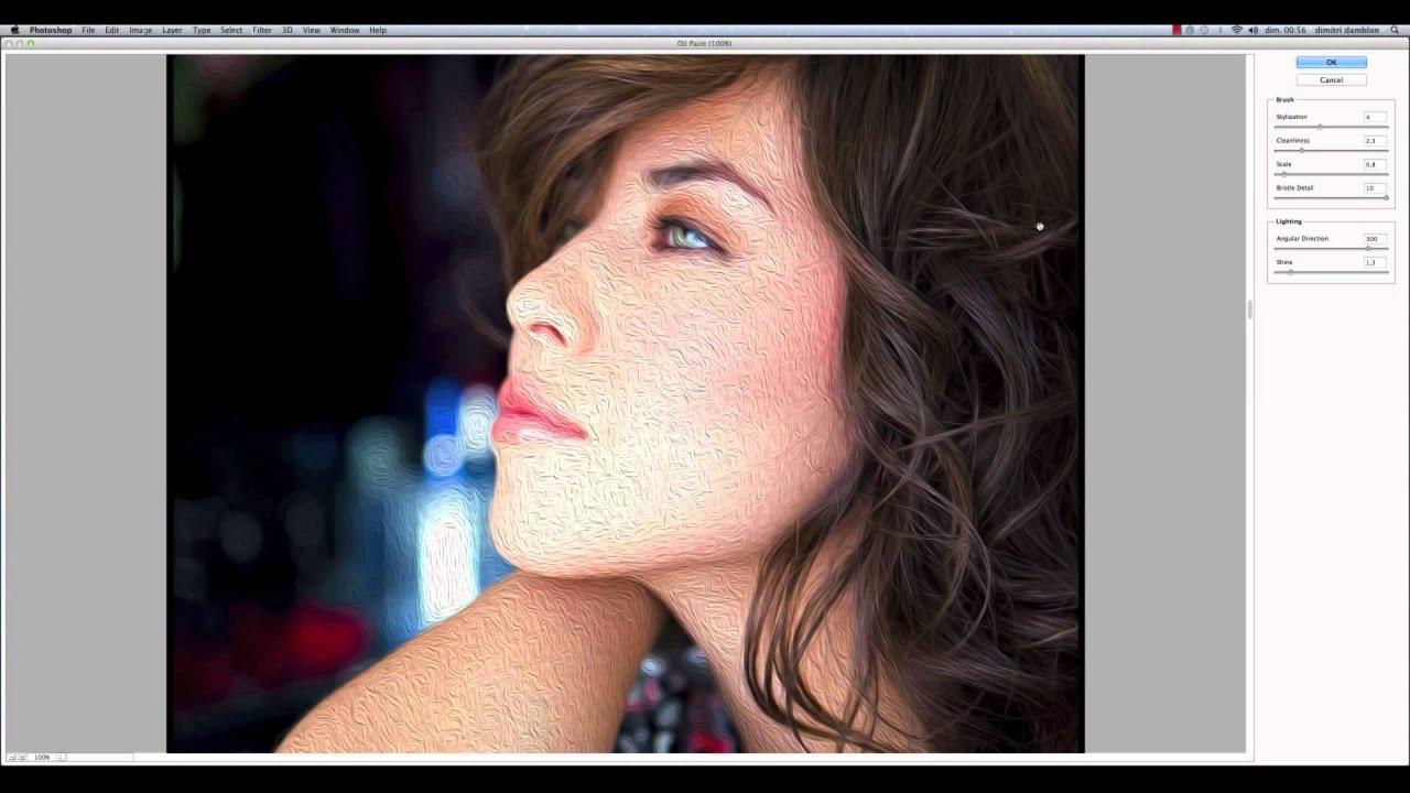 filtre peinture à lhuile photoshop cs5