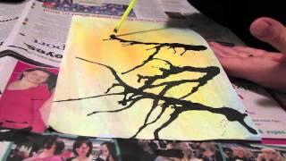 Ink-Blown Tree Art