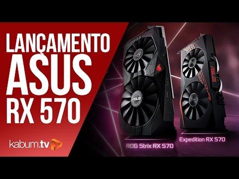 Placa de Vídeo Gaming Asus AMD RX 570 | KaBuM!