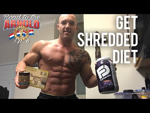 Get Shredded Diet | Full day of eating | Road to the Arnold ep. 6