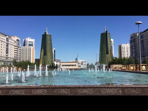 The Capital of Kazakhstan - Nur-Sultan (Astana) in summer 4k