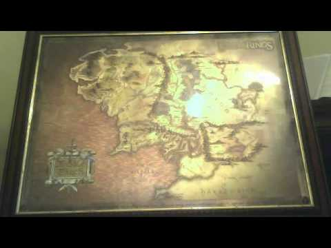 A review on an extremely rare Lord Of The Rings framed map of Middle ...
