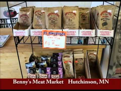 Hutchinson Minnesota's Benny's Meat Market on Our Story's Outside Sweet Swine County