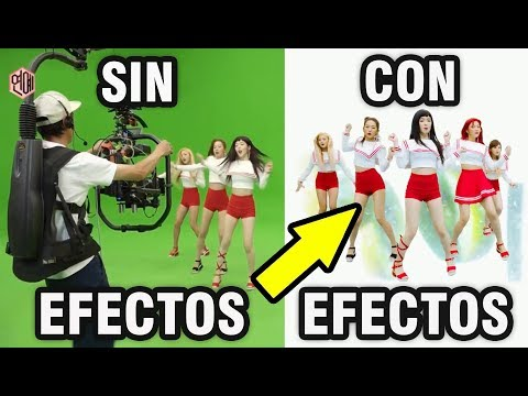180527 ASI SE VERIAN ESTOS 5 M/V K-POP CON Y SIN EFECTOS ESPECIALES | EXO BTS TWICE