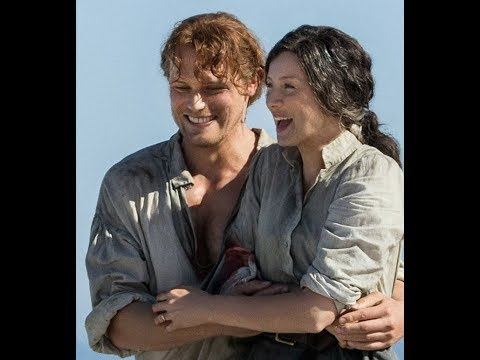 Sam Heughan and Caitriona Balfe  While you wait