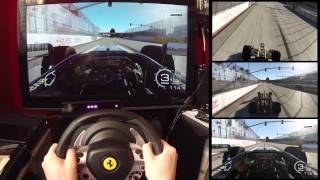 Forza 5 - F1 - Long Beach Part 1 - Assists On TX Wheel