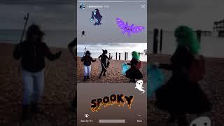 Instagram Story: Pier 2 Pier 'Hallowclean' Silent Disco Beach Clean, Brighton. (2018)