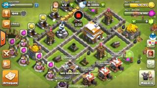 Clash of clans bas de guerre