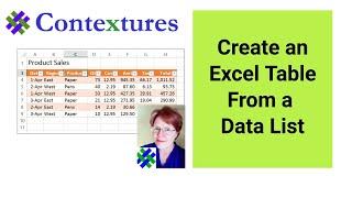 Veri Listesinden bir Excel Tablo Oluşturma