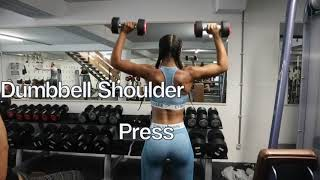 upper body workout with kim - Fitness Vlog #12