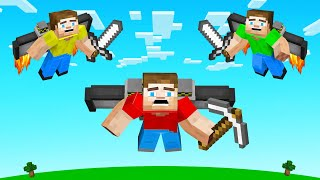 HUNTERS vs SPEEDRUNNER With JETPACKS! (Minecraft)