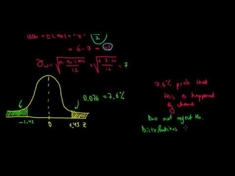 STATISTICS I Intuition Of The Wilcoxon Rank Sum Test I Example