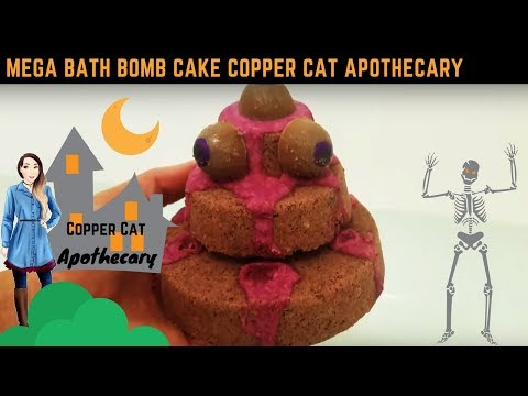 BATH TIME! Mega Bath Bomb Cake Demo & Review Copper Cat Apothecary