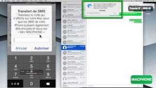 Configurer votre Mac et votre iPhone pour envoyer/recevoir des SMS