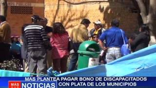 MAS plantea pagar bono de discapacitados con plata de los municipios
