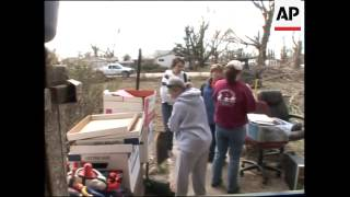Latest aftermath shots of tornado damage