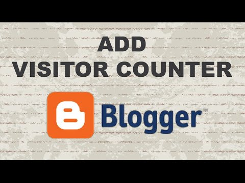 How to Add Visitor Counter in Blogger (Histats)