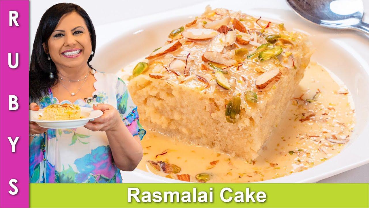 Rasmalai Cake One Pan No Oven Fast Easy Recipe In Urdu Hindi Rkk Youtube