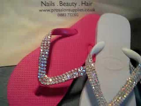 Swarovski Crystal Flip Flops by Coco Crystal - YouTube 1f0fe6e67a