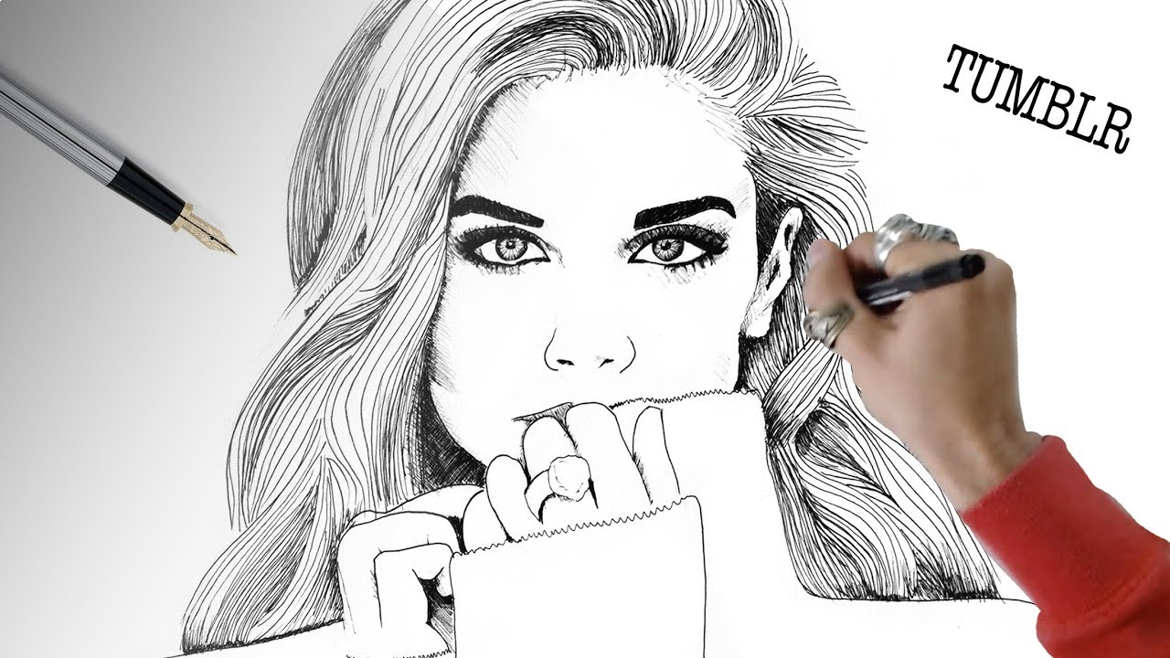 How To Draw Sara Sampaio Drawing Tumblr Girls Inspired By Arte E